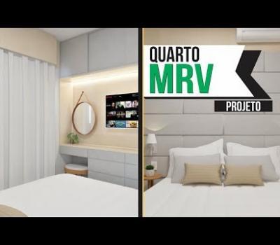 MRV Projeto de Quarto de Casal Decorado