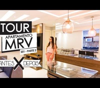 TOUR do APARTAMENTO 201 MRV - PARTE 2 (Sala e Quarto) / ANTES e DEPOIS - Mariana Cabral